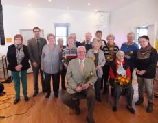 Plauderstunde mit Ehrungen von langjährigen Mitgliedern am 26.2.2016