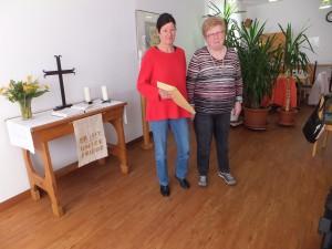 Inge Ruland begrüßte Doris Schilhavy in der AWO-Familie